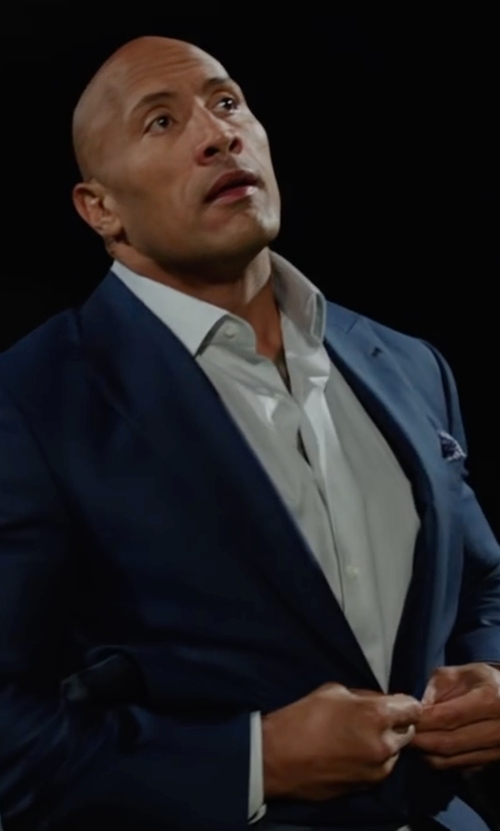 Dwayne Johnson with Anto Beverly Hills White Hairline Dress Shirt in Central Intelligence