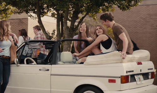 Cara Delevingne with Volkswagen 1984 Cabriolet Convertible in Paper Towns