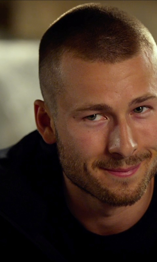 Glen Powell with Bloomingdale's Crewneck Tee in The Expendables 3