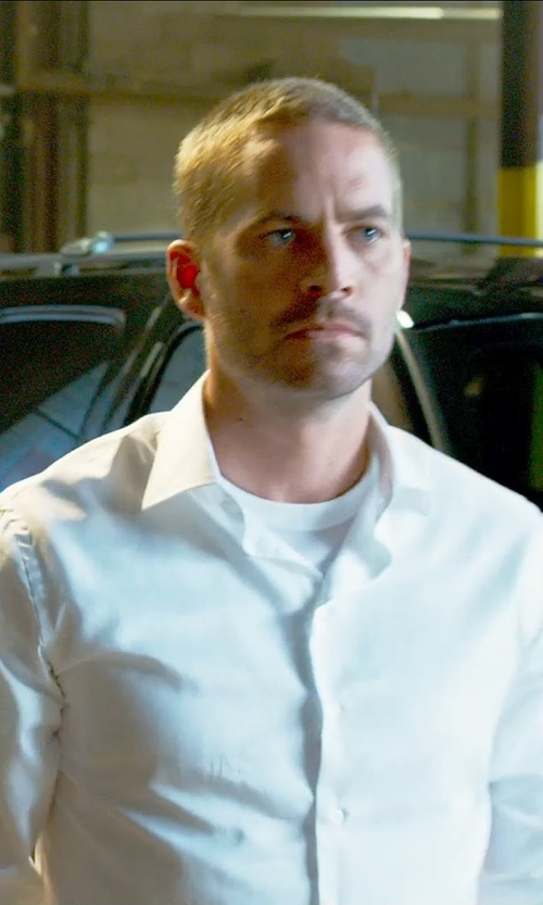 Paul Walker with Norse Projects Niels Basic T-Shirt in Furious 7