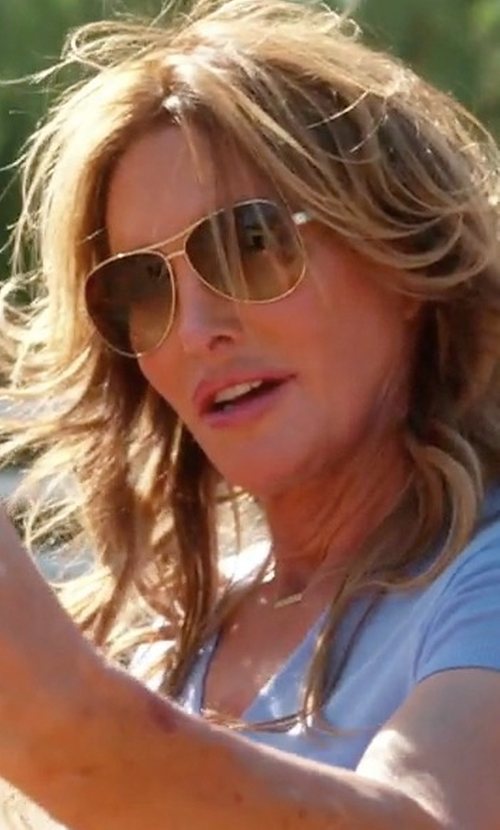Caitlyn Jenner with Salt. Francisco Polarized Aviator Sunglasses in Keeping Up With The Kardashians