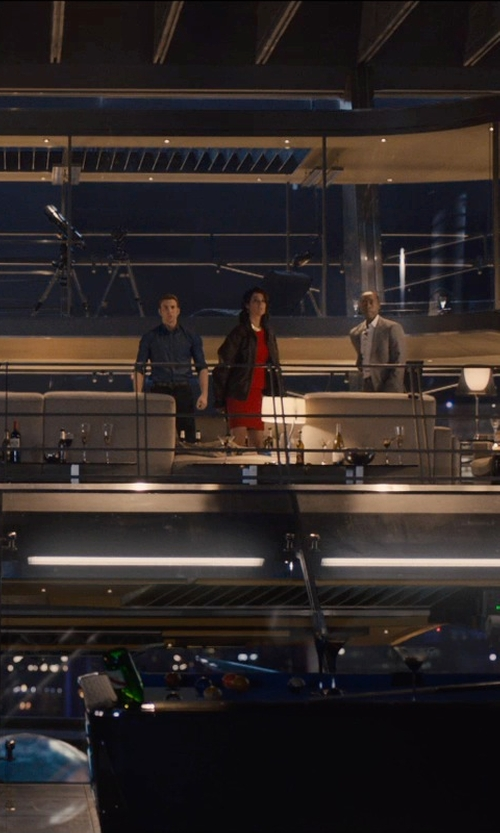 Cobie Smulders with Jill Jill Stuart Lace Sheath Dress in Avengers: Age of Ultron