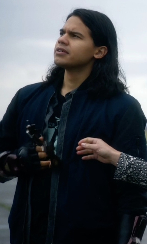 Carlos Valdes with Outerknown Evolution Bomber Jacket in The Flash