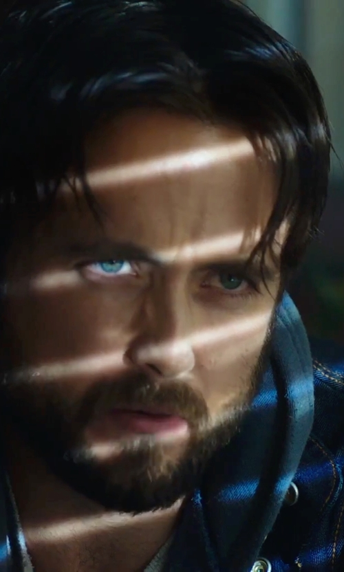 Justin Chatwin with Polo Ralph Lauren Long-Sleeved Denim Jacket in Urge