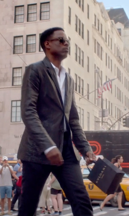 Chris Rock with Canali Flat Front Wool Trousers in Top Five