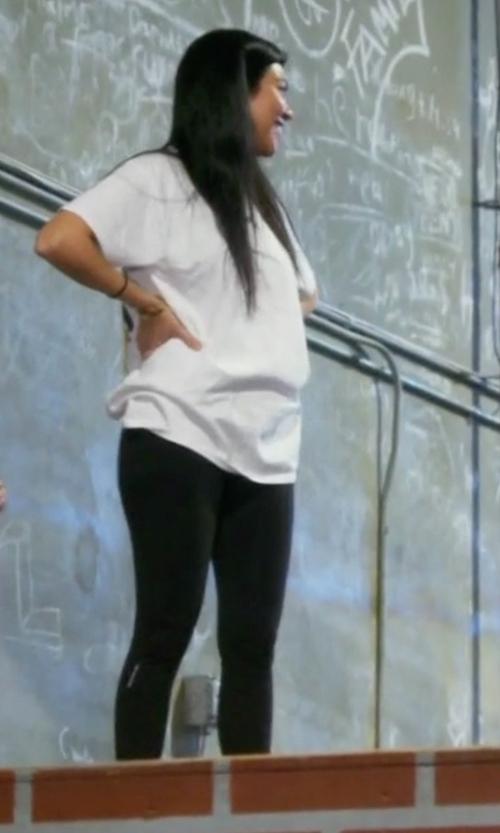 Kourtney Kardashian with Calvin Klein Performance Ruched Performance Leggings in Keeping Up With The Kardashians