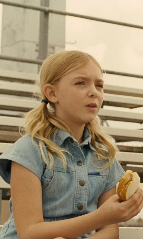 Elsie Fisher with Blank NYC Girl's Denim Shirtdress in McFarland, USA