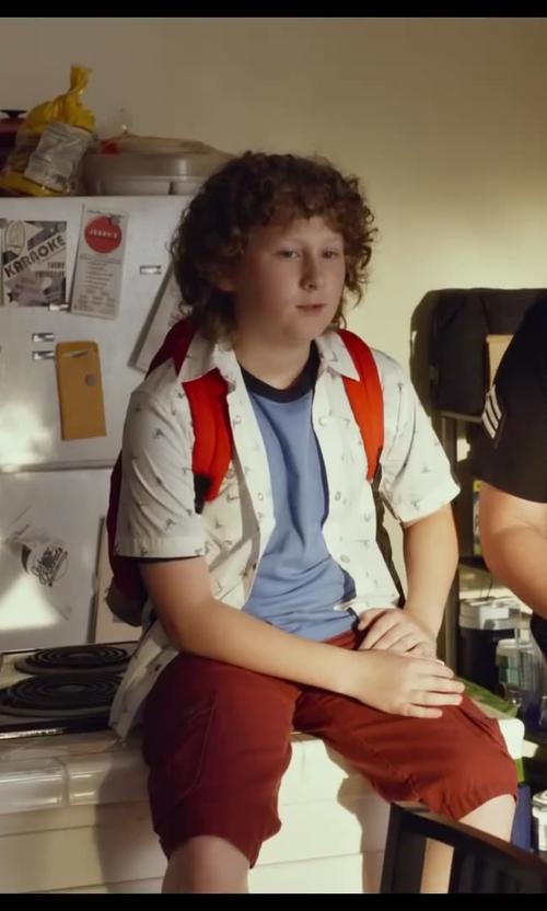 Joshua Ormond with Jansport High Risk Red Superbreak Schoolbag Backpack Book Bag in Let's Be Cops