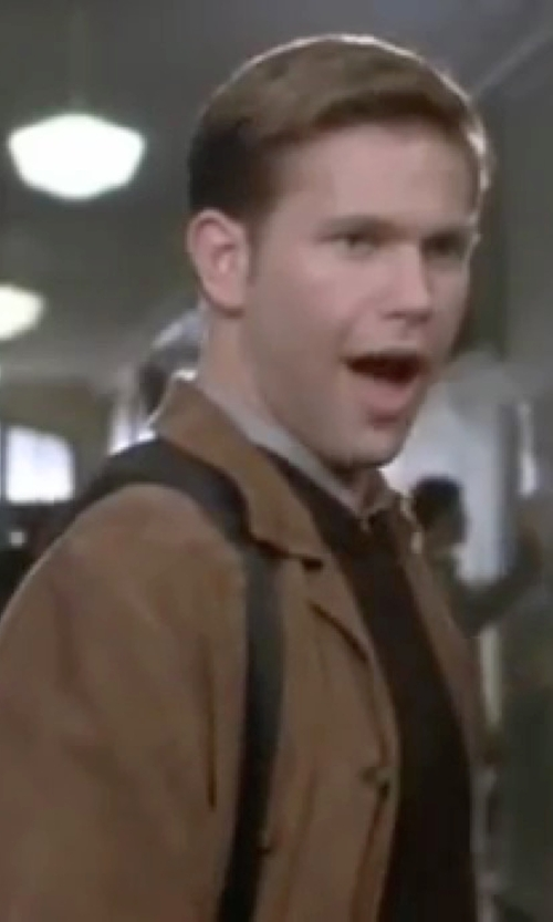 Matthew Davis with R And O Open-Bottom Leather Bomber Jacket in Legally Blonde