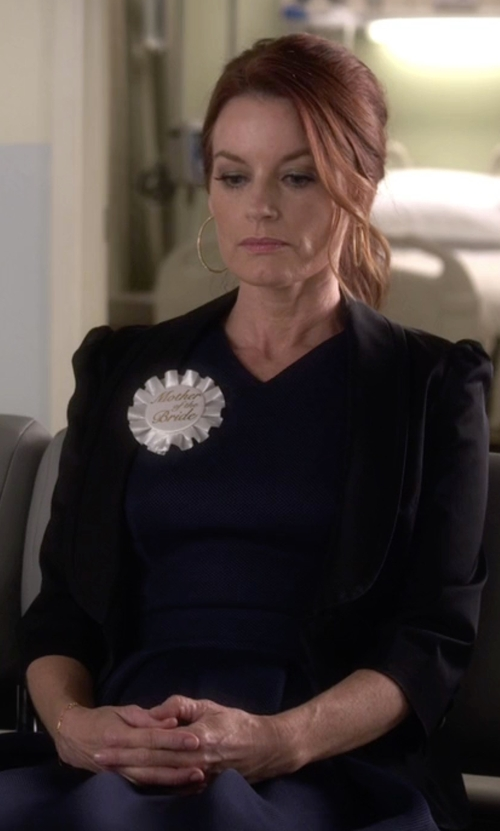 Laura Leighton with ATM Soft Shawl Collar One-Button Blazer in Pretty Little Liars