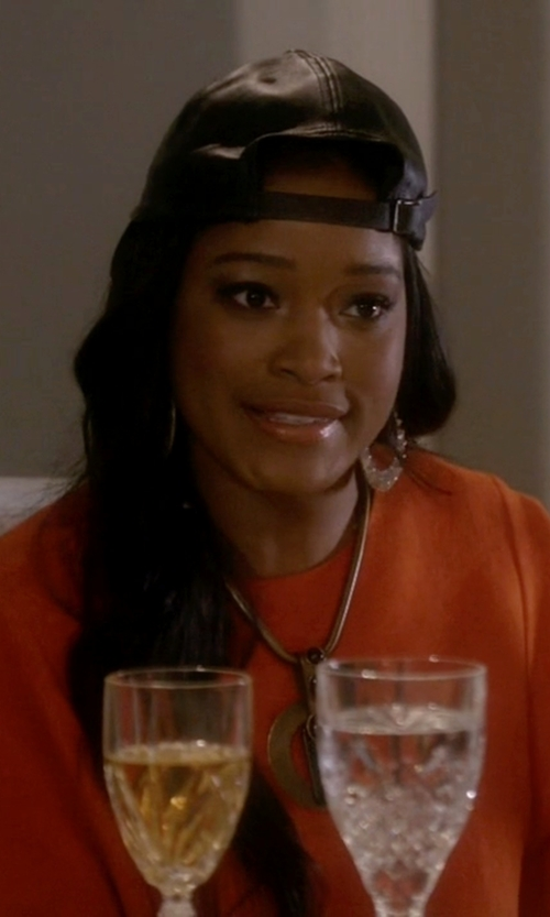 Keke Palmer with Forever 21 Sateen Baseball Hat in Scream Queens