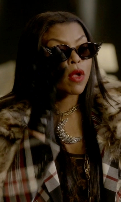 Taraji P. Henson with Le Snob Swan Sunglasses in Empire