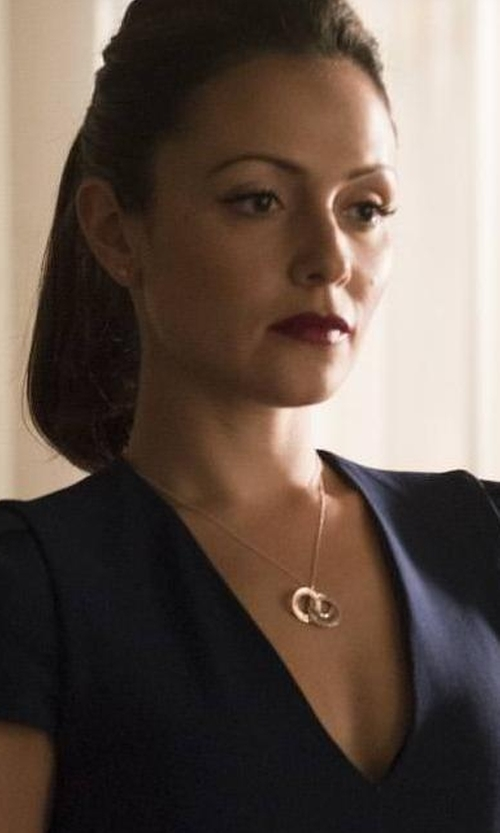 Italia Ricci with Vita Fede Sole Two-Tone Circle Necklace in Designated Survivor