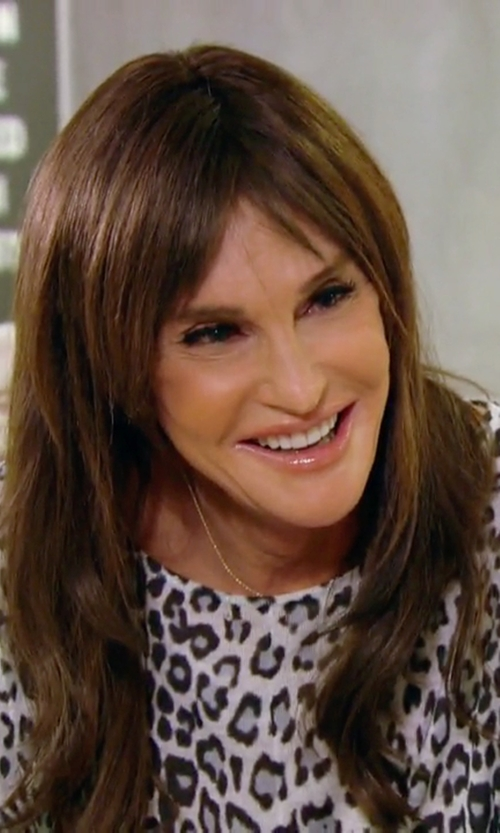 Caitlyn Jenner with Karen Kane Leopard Print Contrast Top in Keeping Up With The Kardashians