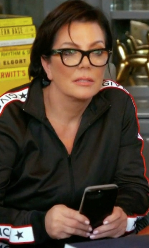 Kris Jenner with Givenchy Logo Print Track Jacket in Keeping Up With The Kardashians