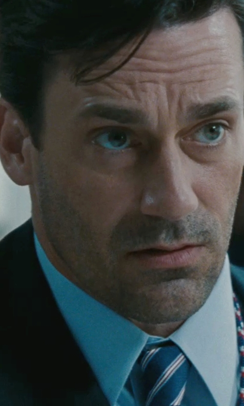 Jon Hamm with Pierre Balmain Lapel Collar Wool Suit in The Town