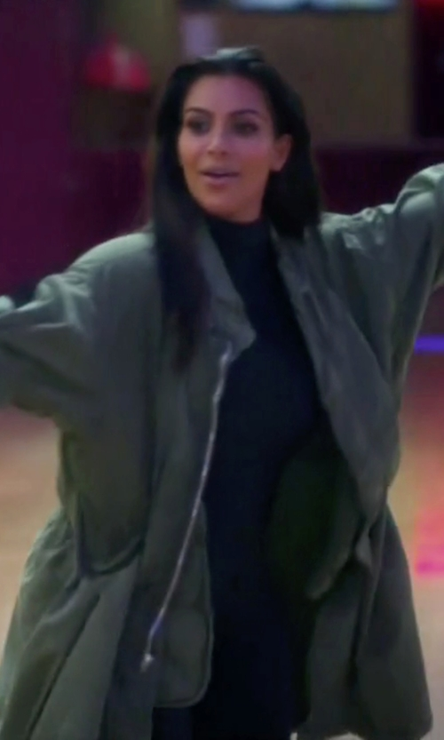 Kim Kardashian West with Off-Brand US Army M65 Extreme Cold Weather Parka Jacket in Keeping Up With The Kardashians