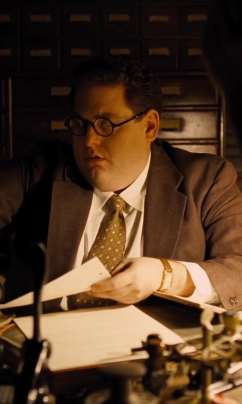 Jonah Hill with Ingersoll Park Analog Display Watch in Hail, Caesar!