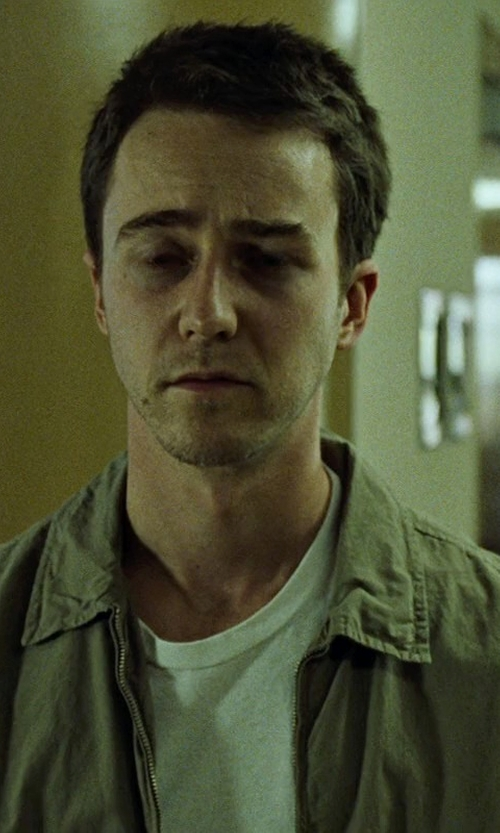 Edward Norton with Wings + Horns Monogram Trim Fit Cotton Poplin Shirt in Fight Club