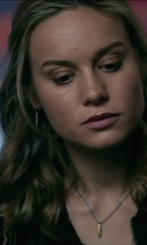 Brie Larson with Isabel Marant Seattle Buffalo Bone Necklace in The Gambler