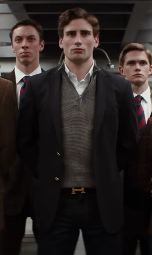 Edward Holcroft with BLK DNM Skinny Fit Classic Faded Jeans 25 in Kingsman: The Secret Service
