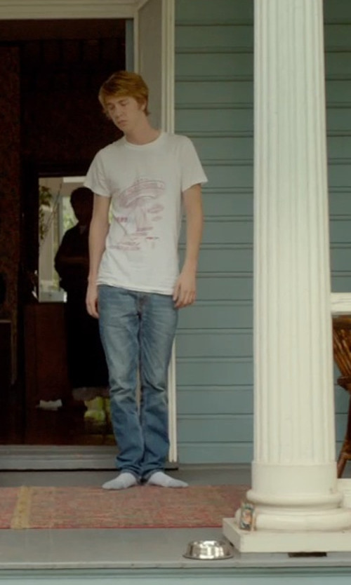 Thomas Mann with Gosha Rubchinskiy Skeleton Print T-Shirt in Me and Earl and the Dying Girl