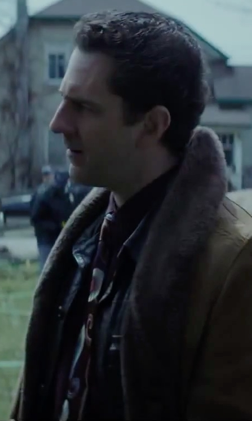 Aaron Abrams with BLK DNM Buttoned Leather Jacket in Regression