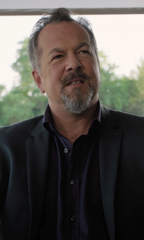 David Costabile with Hugo Aerin Extra Trim Fit Wool Blazer in Billions