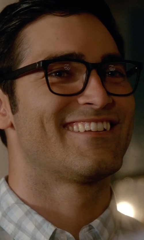 Tyler Hoechlin with Oliver Peoples Optical Glasses in Supergirl