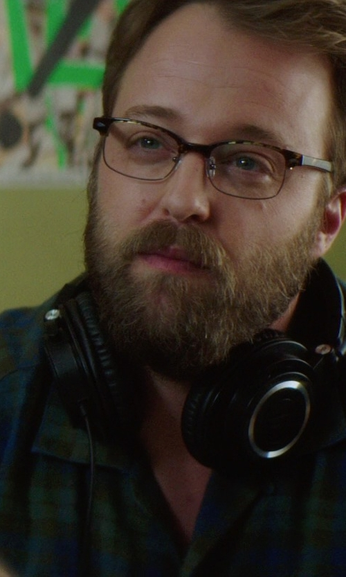 Joshua Leonard with Obey Morton Plaid Button-Down Shirt in If I Stay