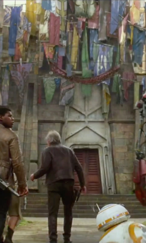 Harrison Ford with Kiton Straight Leg Trousers in Star Wars: The Force Awakens