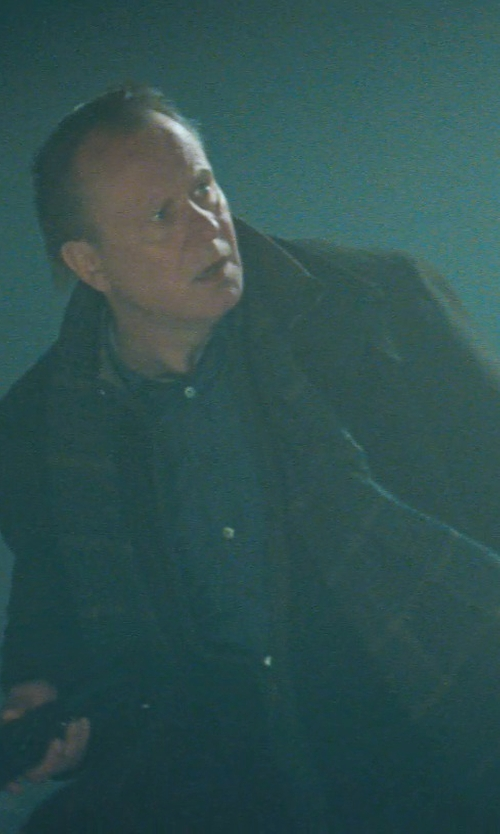 Stellan Skarsgård with Cole Haan Classic Cashmere Topper Coat in Thor
