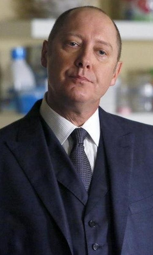 James Spader with Boss Hugo Boss Hevans Three-Piece Wool Suit in The Blacklist