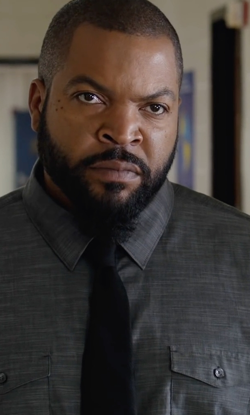 Ice Cube with Saks Fifth Avenue Collection Solid Silk Tie in Fist Fight