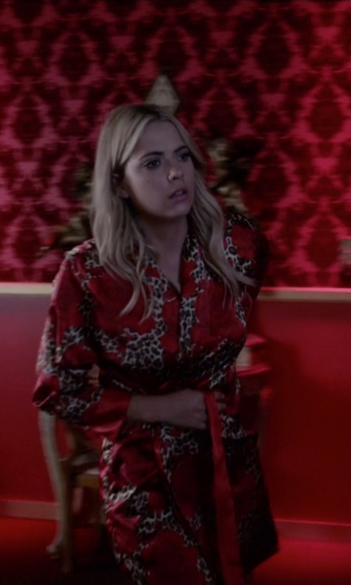 Ashley Benson with Cathy's Concepts  Floral Satin Robe in Pretty Little Liars