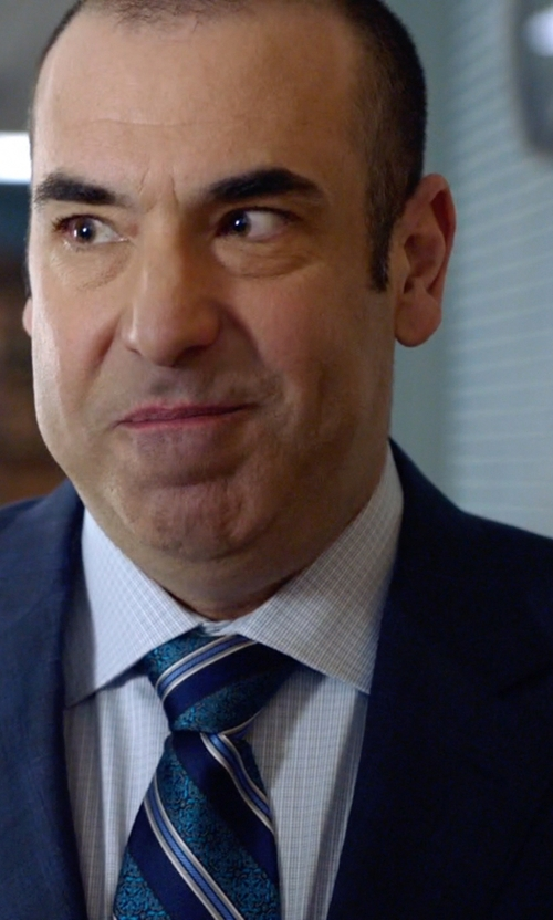 Rick Hoffman with Canali Plaid Two-Piece Wool Suit in Suits