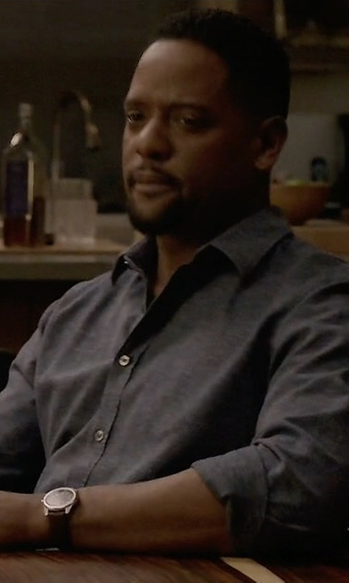 Blair Underwood with Shinola Runwell Chronograph Watch in Quantico