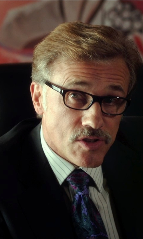 Christoph Waltz with S&W Floral Paisley Men's Tie in Horrible Bosses 2