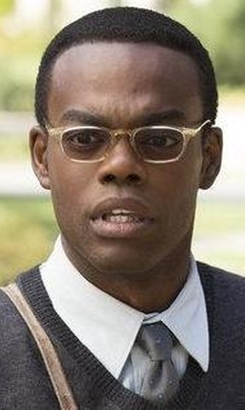 William Jackson Harper with GAMT  Metal Frame Square Glasses in The Good Place