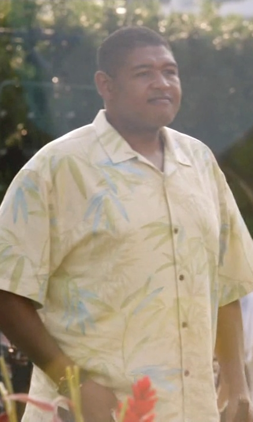 Omar Benson Miller with Paradise Found Orchid Corsage Shirt in Ballers