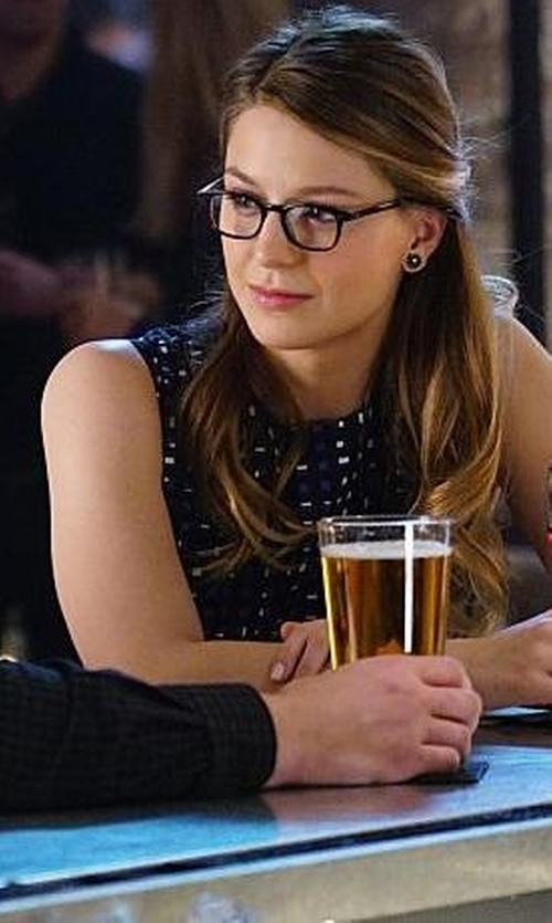 Melissa Benoist with L.A. Eyeworks Dap Frames in Tortoise Eyeglasses in Supergirl