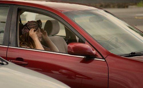 Keira Knightley with Ford Taurus in Laggies