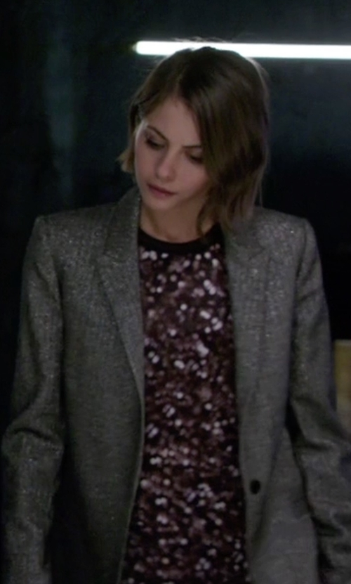 Willa Holland with Zadig & Voltaire Victor Silver Stripe Blazer in Arrow