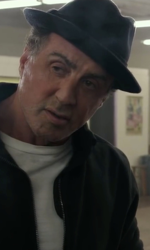 Sylvester Stallone with Brixton 'Messer' Fedora Hat in Creed