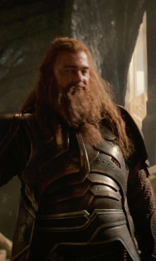 Ray Stevenson with Wendy Partridge (Costume Designer) Custom Made Volstagg Costume in Thor: The Dark World