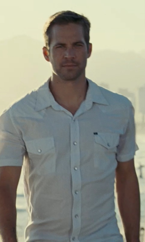 Paul Walker with Ralph Lauren Cotton Sloan Military Shirt in Fast Five