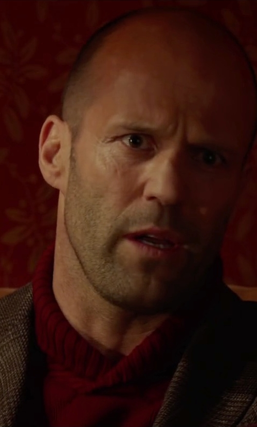 Jason Statham with Jack Spade Wegman Shawl Sweater in Spy