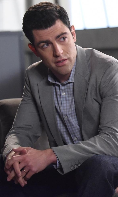 Max Greenfield with Theory Rodolf Double-Face Blazer in New Girl