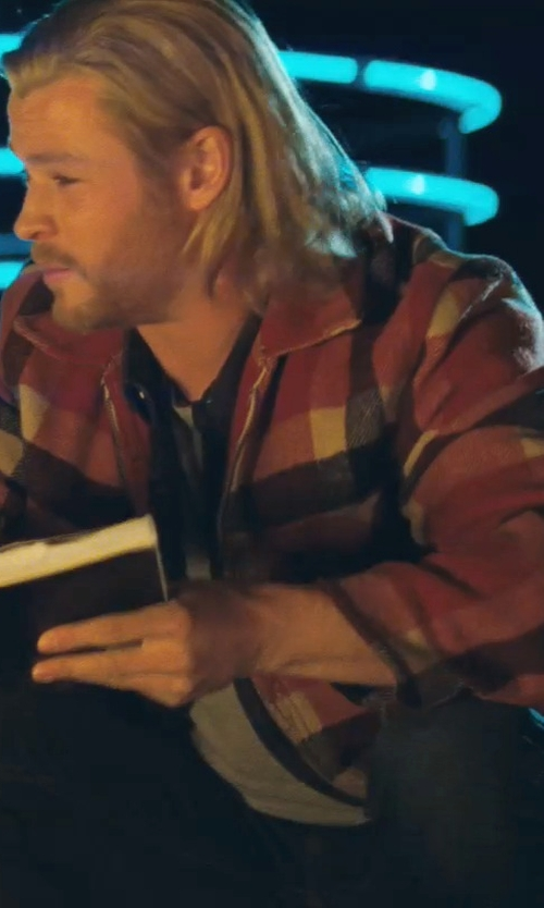 Chris Hemsworth with Pendleton Wilkes Jacket in Thor
