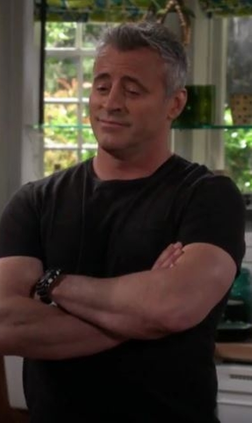 Matt LeBlanc with American Vintage Crew Neck Cotton T-Shirt in Man With A Plan